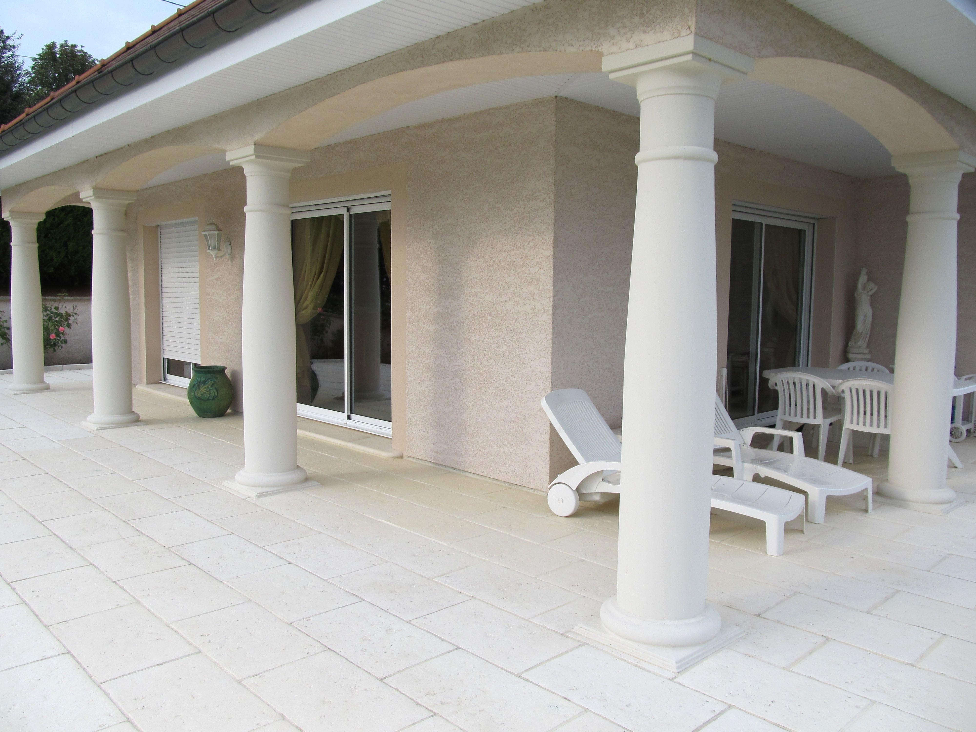 colonne pleine et monobloc en b ton arm lisse mod le toscane colonne romaine colonnes. Black Bedroom Furniture Sets. Home Design Ideas