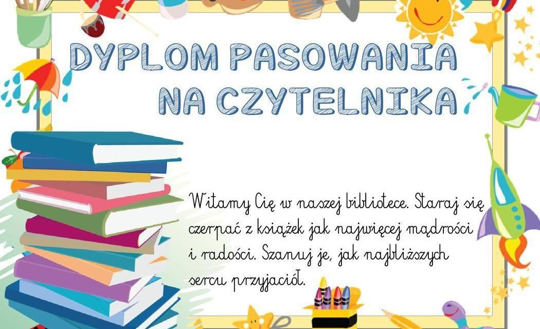 Dyplomy pasowania na czytelnika (poziome) Education