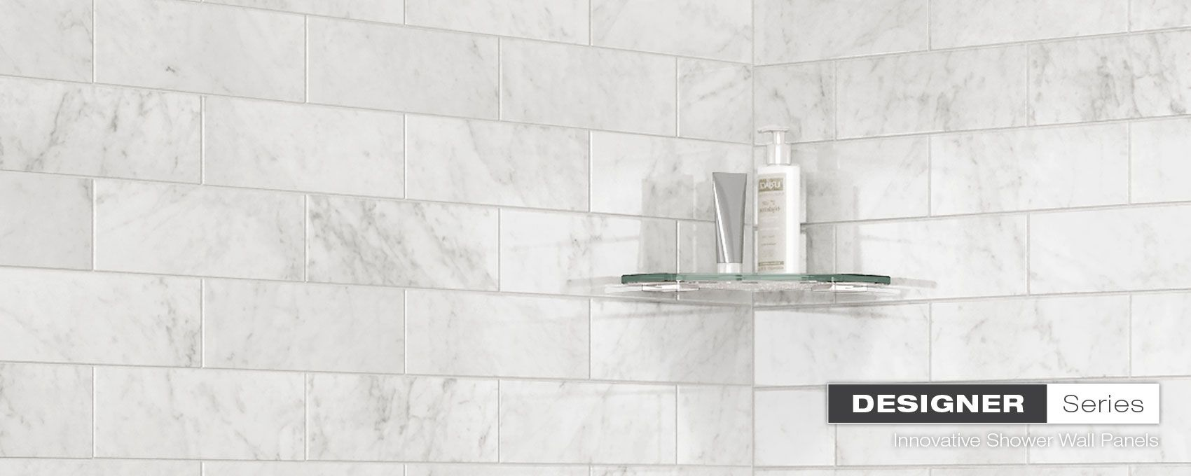 Marble Carrara Utile Shower Wall Panels Bath Remodel