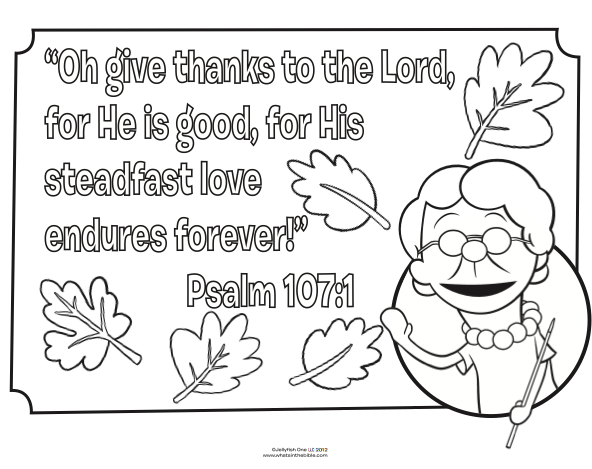 Sunday School Coloring Pages For 3 Year Olds. Bible coloring page for Thanksgiving  Psalm 107 1 Fall