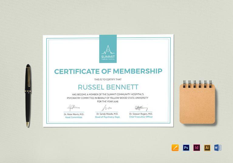Medical Membership Certificate Template | File size, Certificate and ...