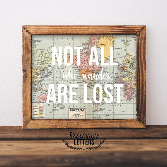 Lord Of The Rings Ring Quote Not All Who Wander Are Lost Lord Of The Rings Map Print Lord Of .