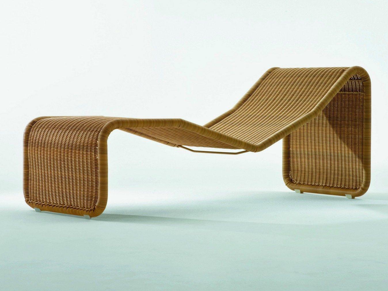 Woven wicker garden daybed ps by pierantonio bonacina design