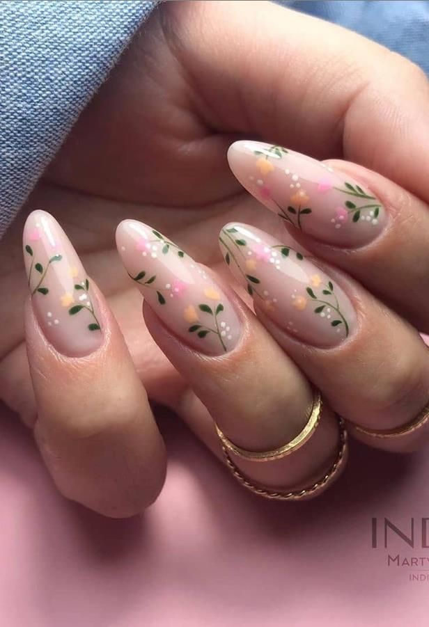 58 Beautiful Pink Almond Nails Art Designs For Spring And Summer In 2020 - Keep creating beauty and warm home, Find more happiness in daily life