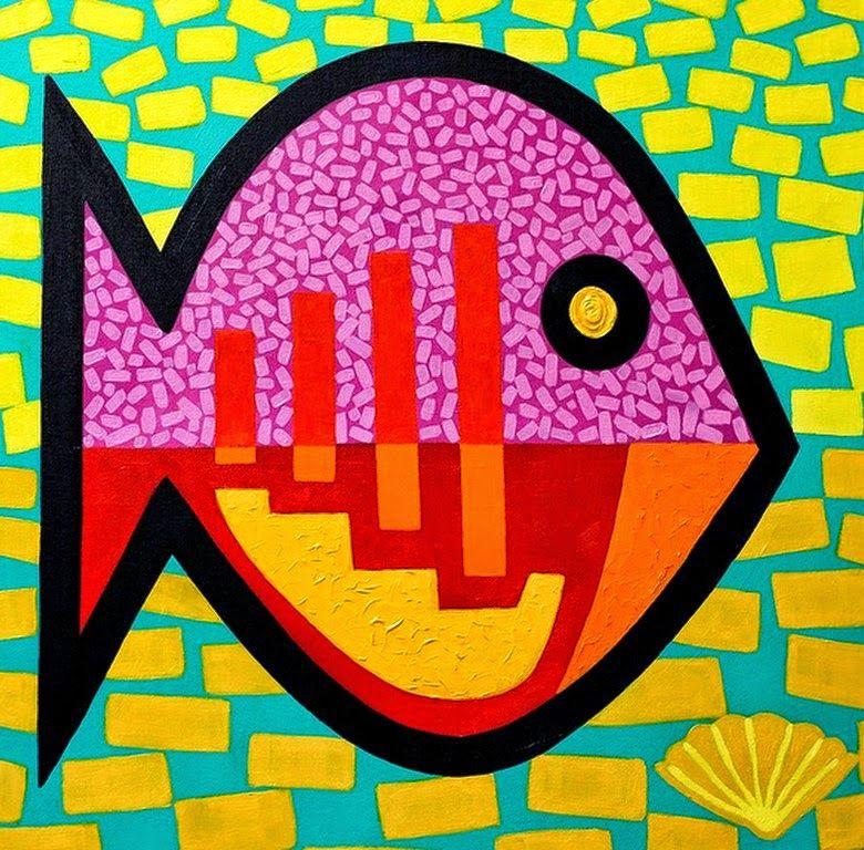 Imagenes modernas cuadros con peces cute pinterest - Cuadros con peces ...