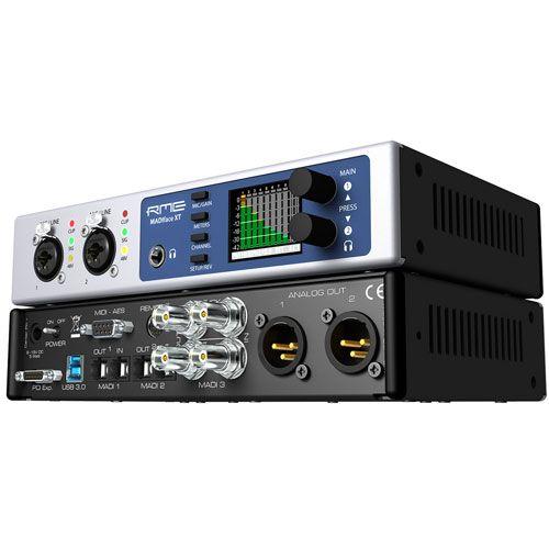 Madiface Xt Usb 3 0 2 0 Audio Interface With 2 X Madi I O Optical 1 X Madi I O Coax 2 X Xlr Mic Line Inputs 4 X Analog Outputs A