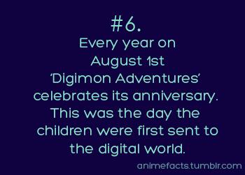 Anime Fact #6 I'm going to start celebrating this! :D