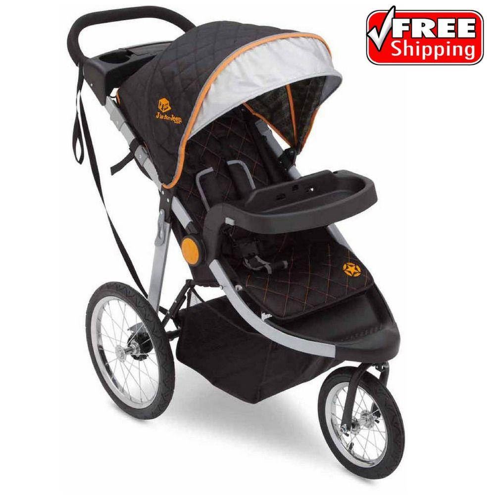 J is for Jeep Brand Baby Jogging Stroller Trek Tonal All