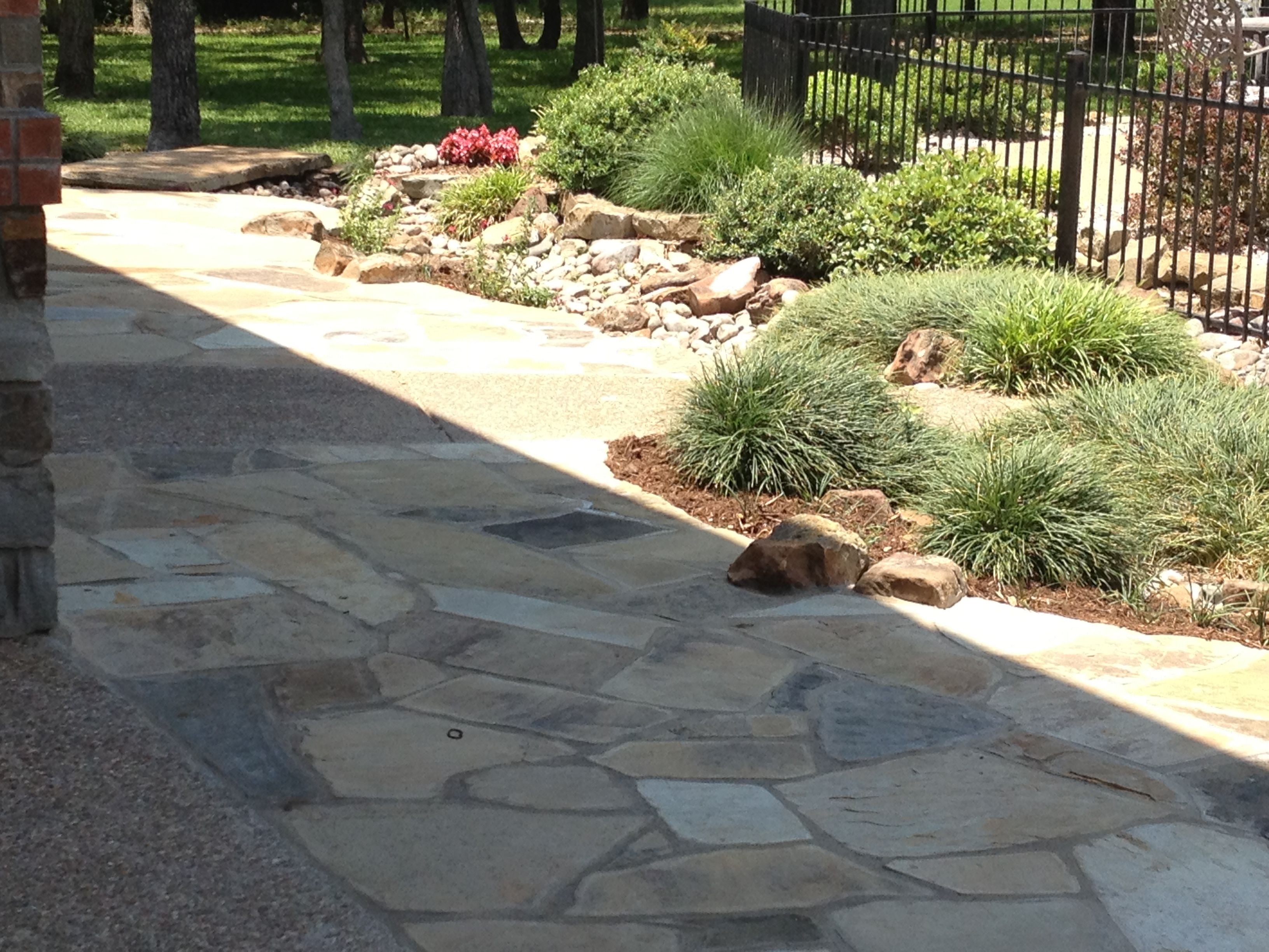 Flagstone Patio Installed By GroundScape Solutions A Fort Worth Landscape  Company.
