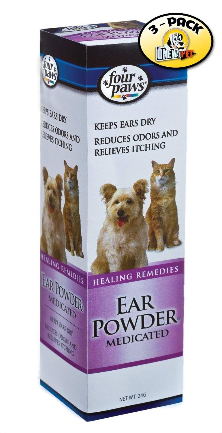 Four Paws Dog Ear Powder, 24 Grams (Pack of 3) *** More