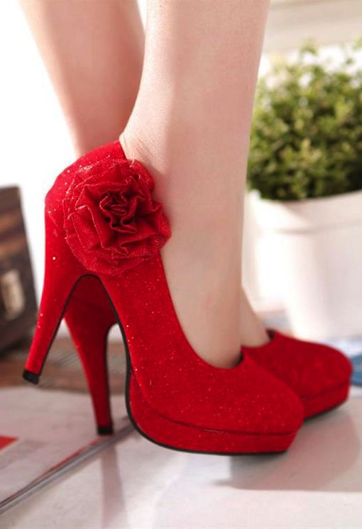 13b0de9f4bb91 Red Rose Stiletto High Heels  shoes  shoesaddict  shoeslover  highheels   heels  partyshoes  stilettoheels  stiletto