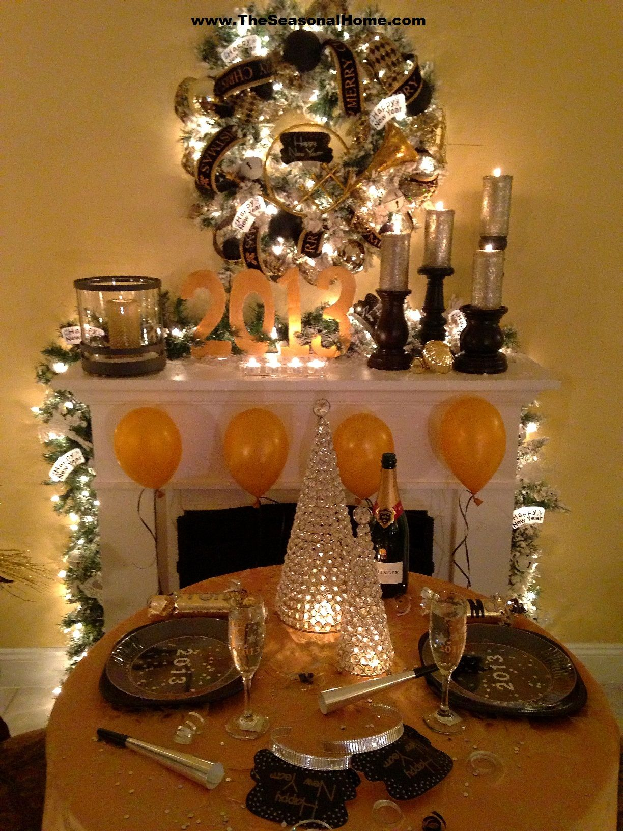 Cozy New Year's Eve Dinner Party (at home) Christmas