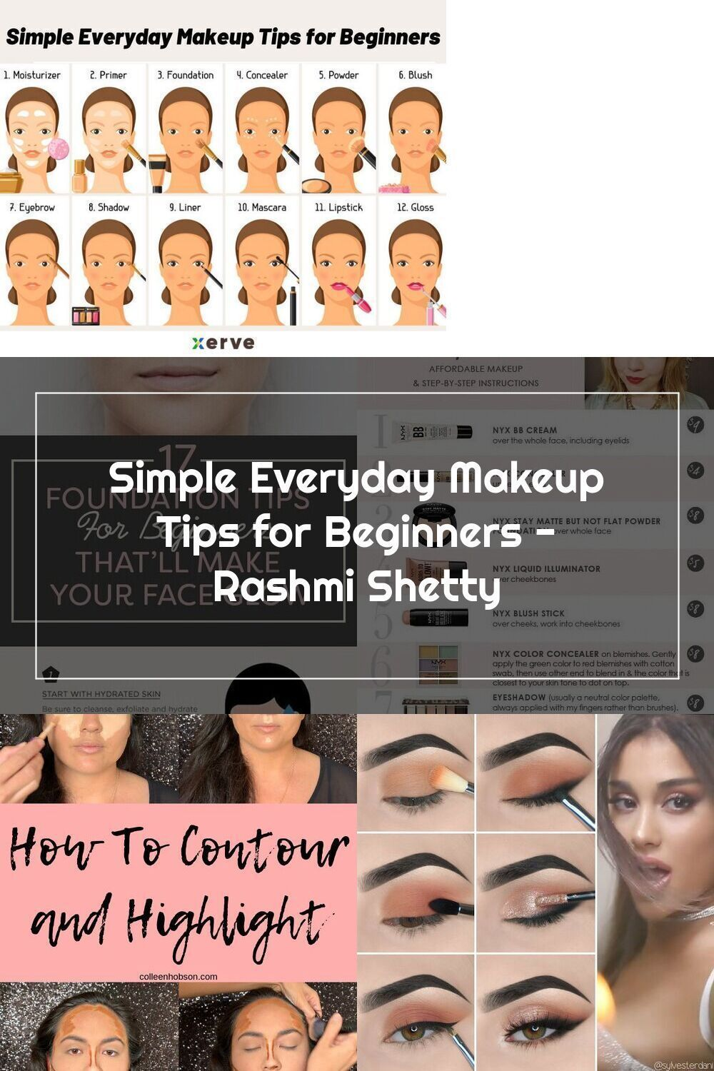 Simple Everyday Makeup Tips for Beginners Rashmi Shetty in 12
