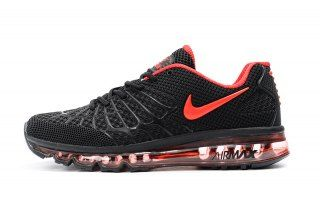bb177fd0eb222 Nike Air Max Spiderman Black October red 819857-016 Mens Winter Running  Shoes