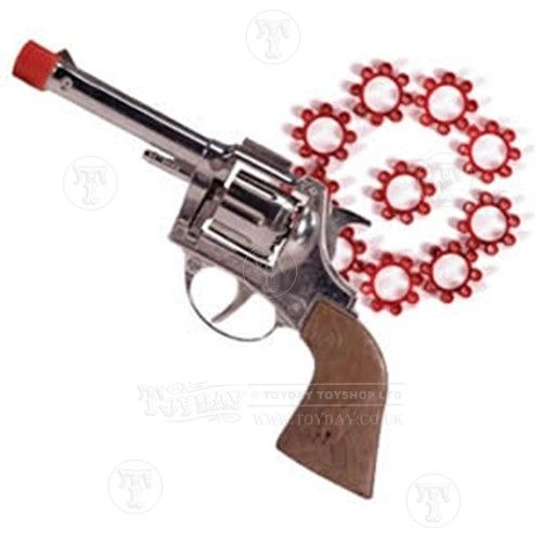 A cap gun is just a pop and a spark, like those things you can buy with fireworks that you throw on the ground. Description from neogaf.com. I searched for this on bing.com/images