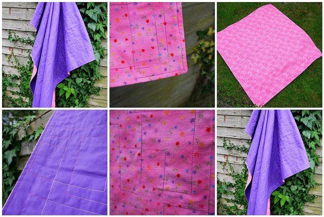 Flannel Blanket by SewHappyGeek, via Flickr
