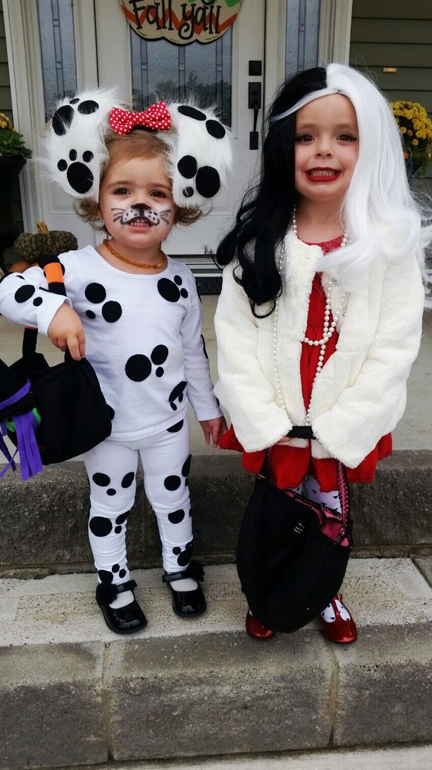 Cruella Deville and Dalmation! Another cute sibling