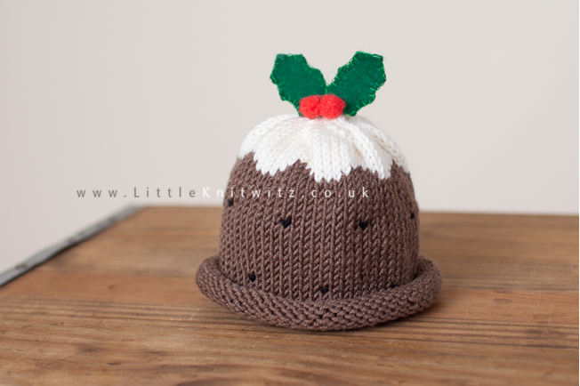 Knitted christmas pudding baby hat  836f1c0e77f1