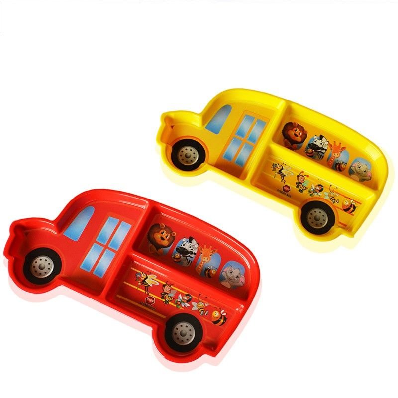 3pcs Set New Car Modeling Cartoon Infant Baby Kids Children Feeding Tableware Dishes Plate Feeding Kids Baby Kids Kids