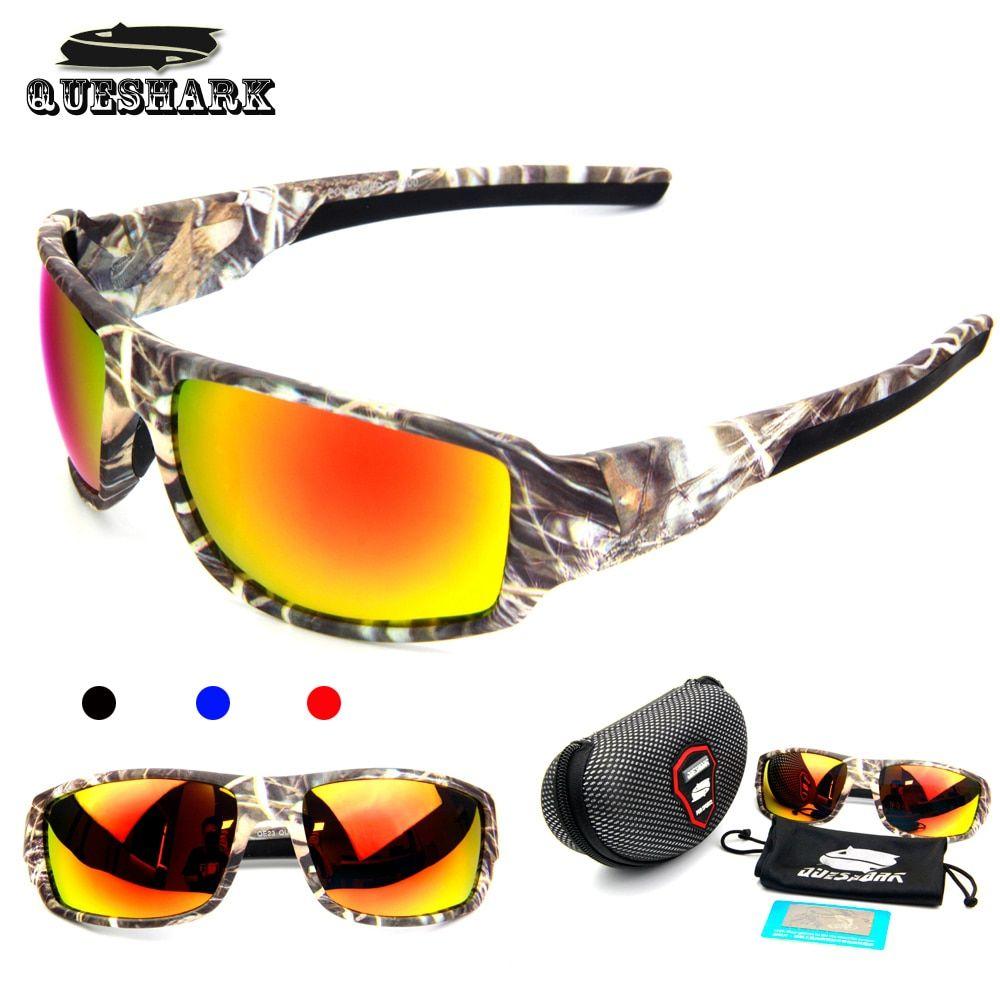 d705a48d542a QUESHARK Men Camouflage Frame Polarized Sunglasses Sports Camo Fishing  Eyewear Cycling Bike Goggles Camping Hiking Sunglasses FREE Shipping  ocean