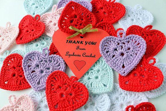 Crochet heart pattern valentine s day gifts crochet hearts