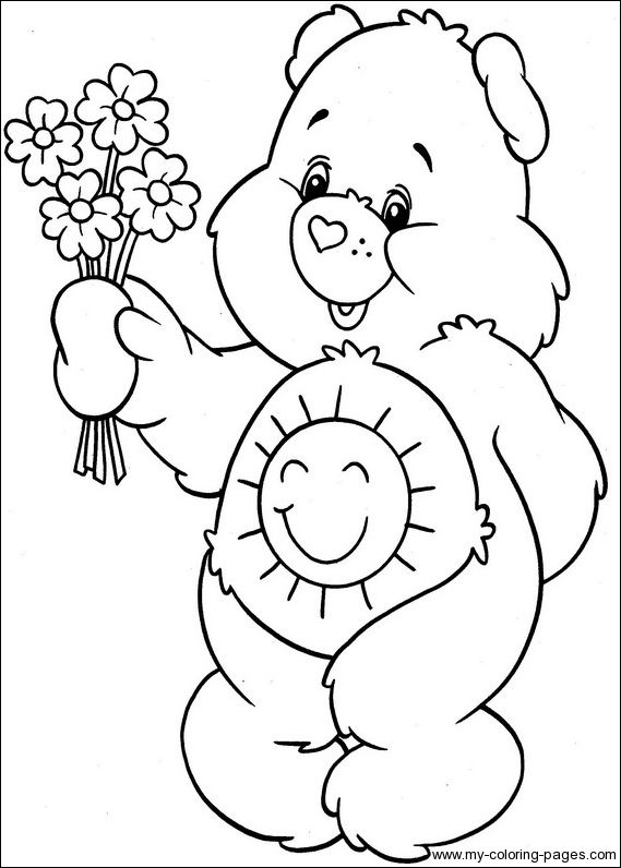 Care Bears Coloring046 Crafty (80's Care Bears