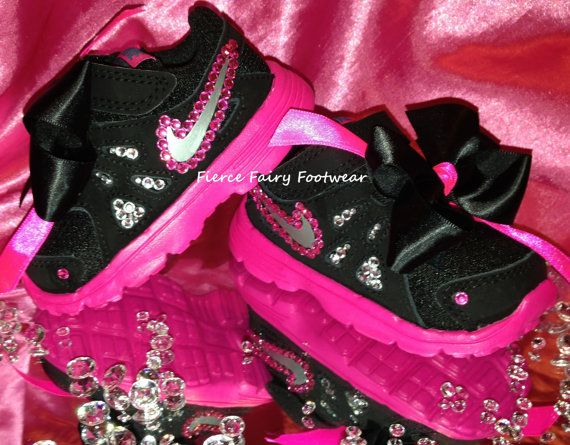 BLING Baby Nike Revolution 2 Trainers Size by FierceFairyFootwear, £35.00