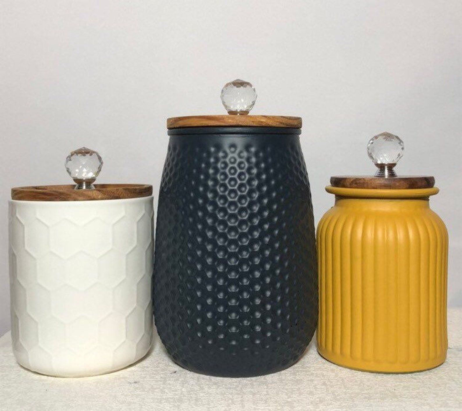 Modern Contemporary Boho Scandinavian Style Kitchen Canisters