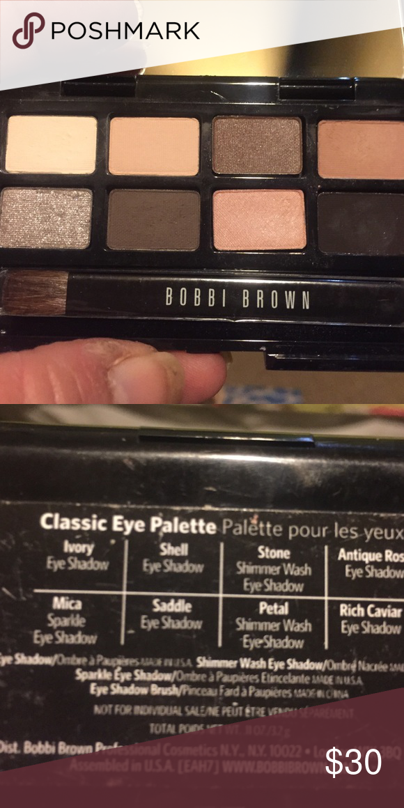New Bobbi Brown , 8 Color Eyeshadow Palette New Bobbi Brown , 8 Color Eyeshadow Palette , Mica Ivory She'll Stone Antique Rose Saddle Petal Rich Cavilier, This is one of the hardest travel to Find , Great Colors ! Bobbi Brown Makeup Eyeshadow