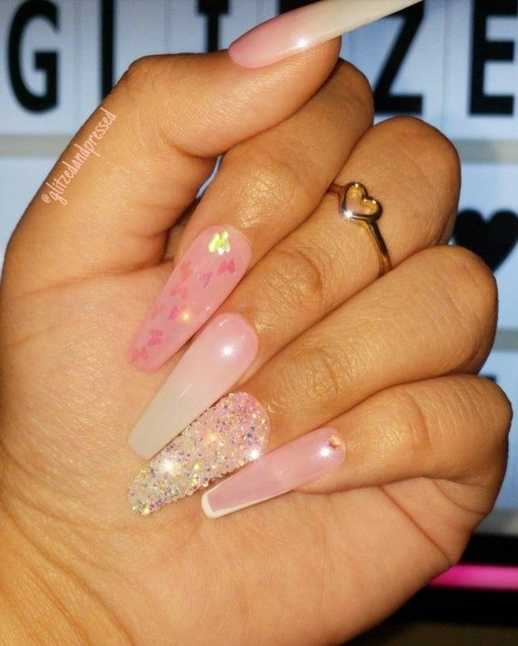 Touch Of Glam Set Handmade Salon Quality Gel Press Ons Thick Press On Nails Fake Nails Swarovski Nails Ombre Nails Best Acrylic Nails Fire Nails Pink Acrylic Nails