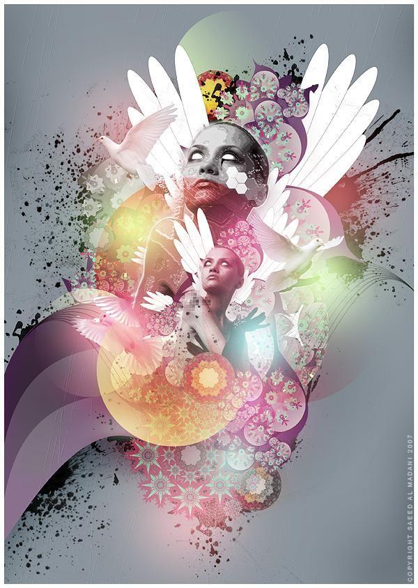 Mixed Media Artwork by Saeed Al Madani <3 <3