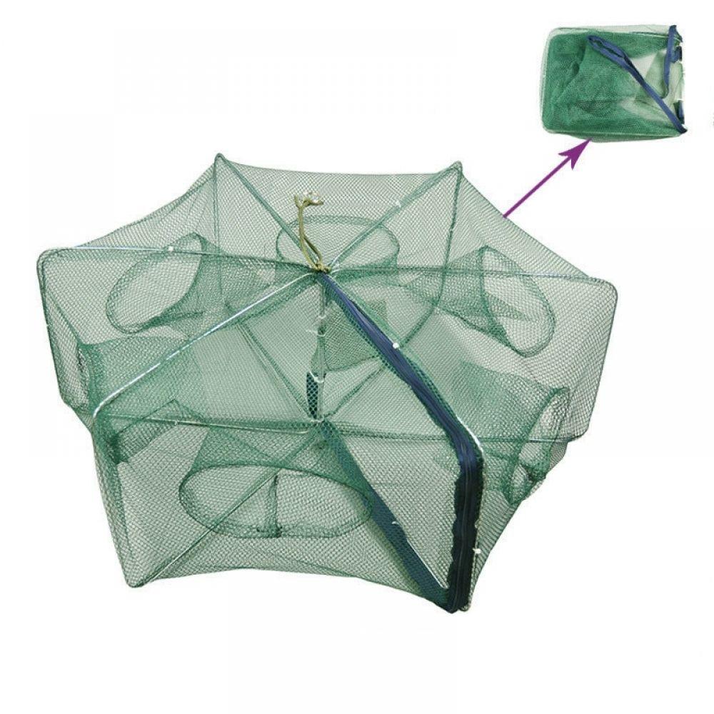 Folded Fishing Net Small Fish Shrimp Minnow Crab Baits Cast Mesh Dip Cage Trap