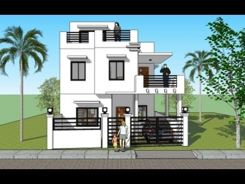 House plan with roofdeck. House plans India. House plans design ...
