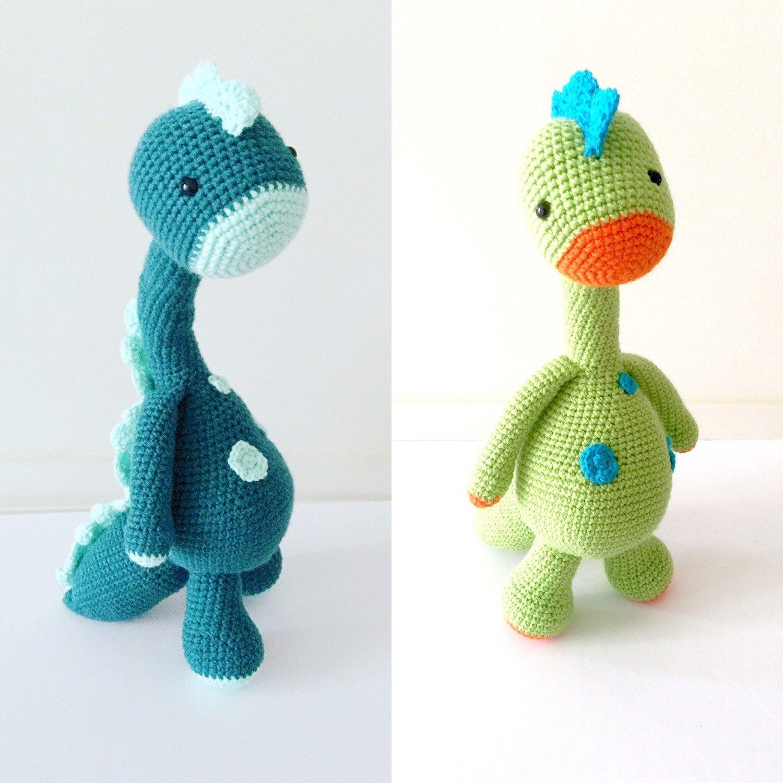 Baby Toy, Amigurumi Toy, Baby Plushie, Crochet Amigurumi Dinosaur, Toy Dinosaur - Made to Order by LittlePinkCanary on Etsy https://www.etsy.com/au/listing/252127799/baby-toy-amigurumi-toy-baby-plushie