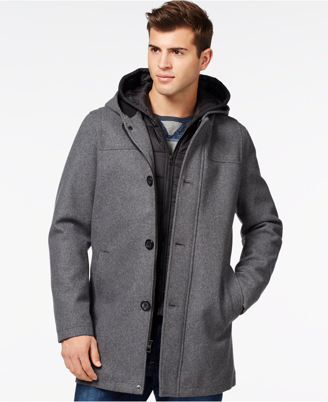 Guess Toggle Jacket With Attached Hood Coats Jackets Men Macy S Jackets Mens Jackets Mens Outfits [ 1616 x 1320 Pixel ]