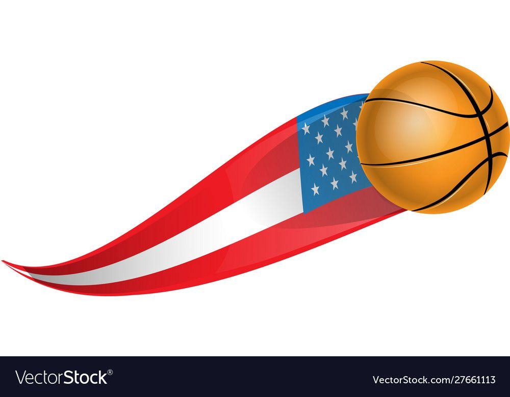 Basketball With Shape Flag Usa Royalty Free Vector Image Ad Flag Usa Basketball Shape Ad Vector Background Pattern Vector Free Vector Images