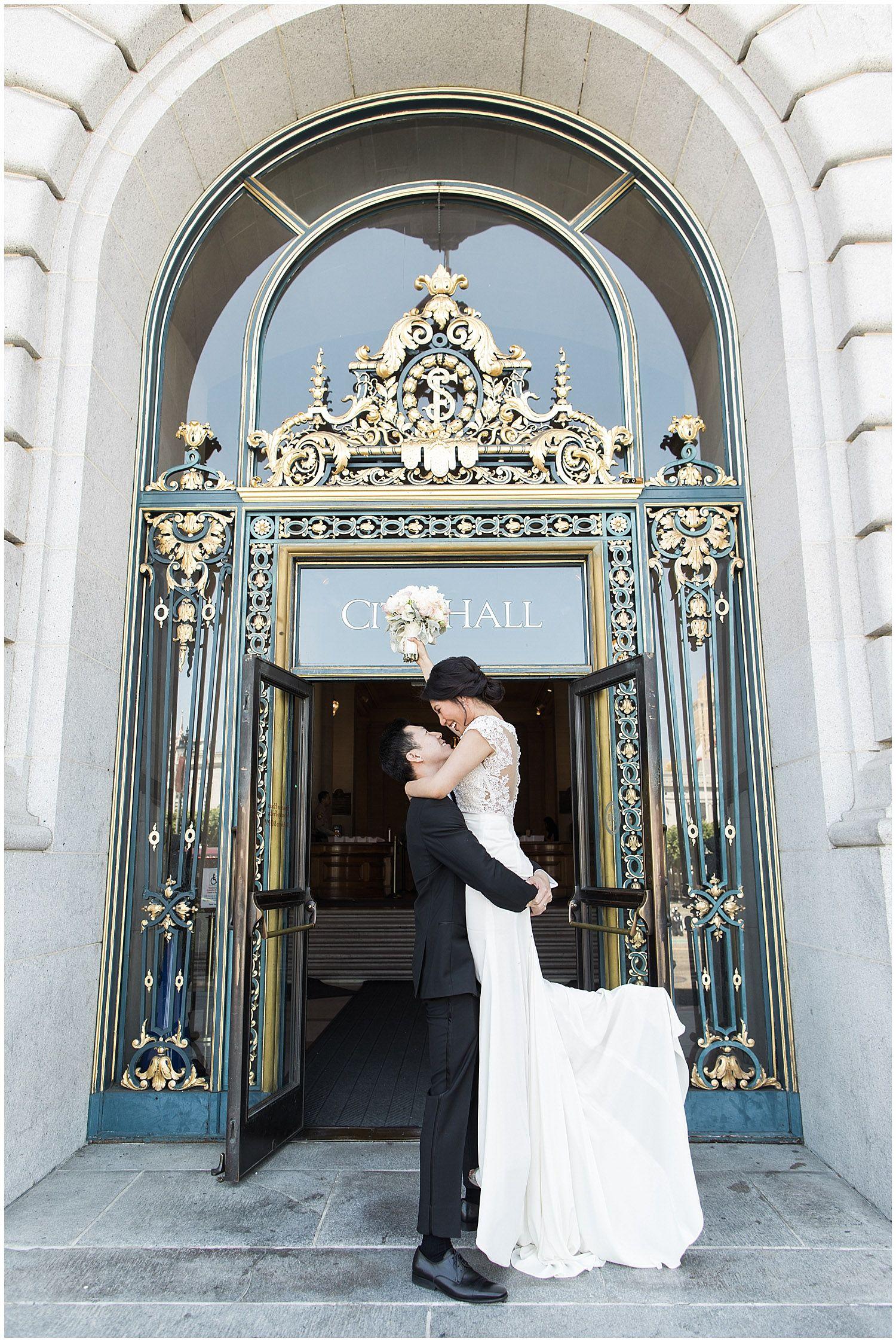 Wedding Photographer San Francisco City Hall]