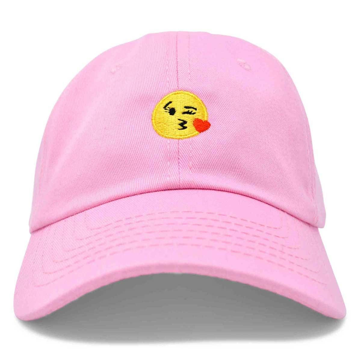 e03a8e38331 DALIX Kiss Emoji Hat Dad Hats Cute Baseball Cap For Women Black White Pink  Beige