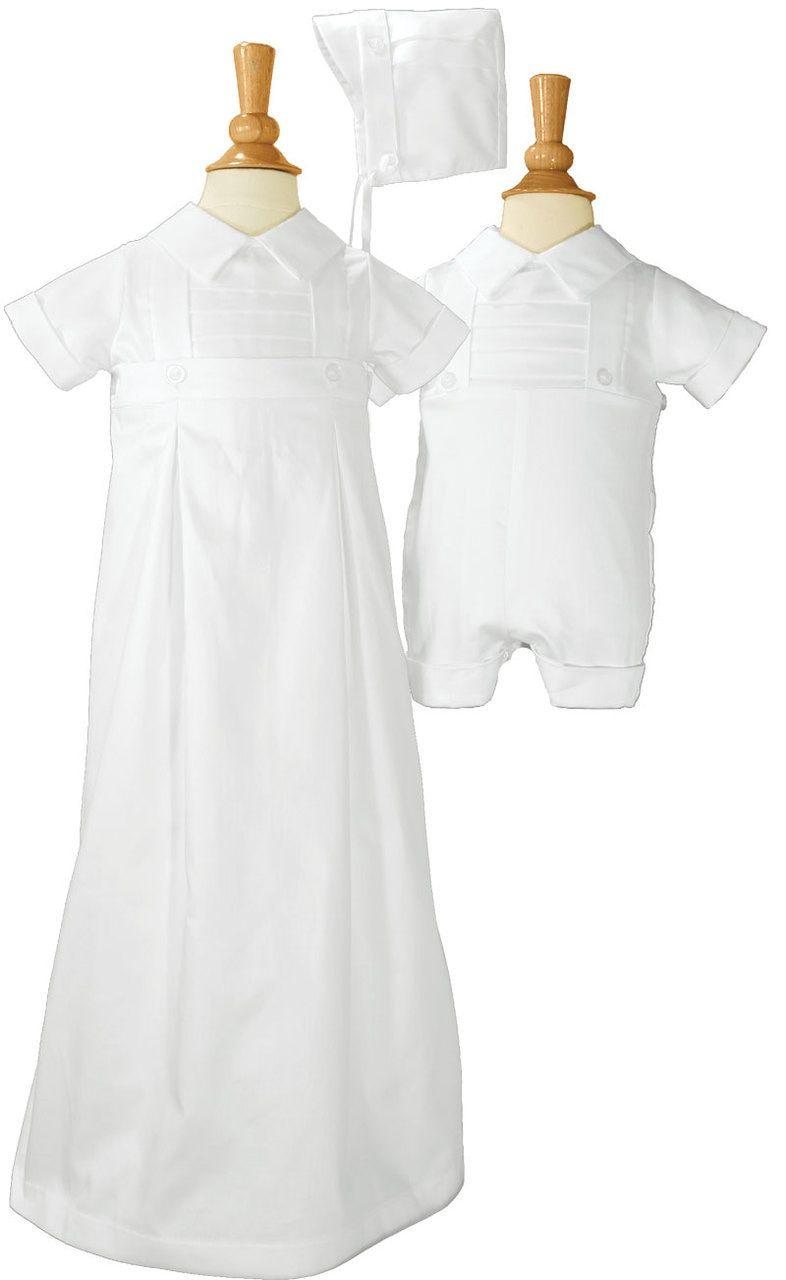 369f97c78 Boys cotton convertible christening baptism set with hat. | Boys ...