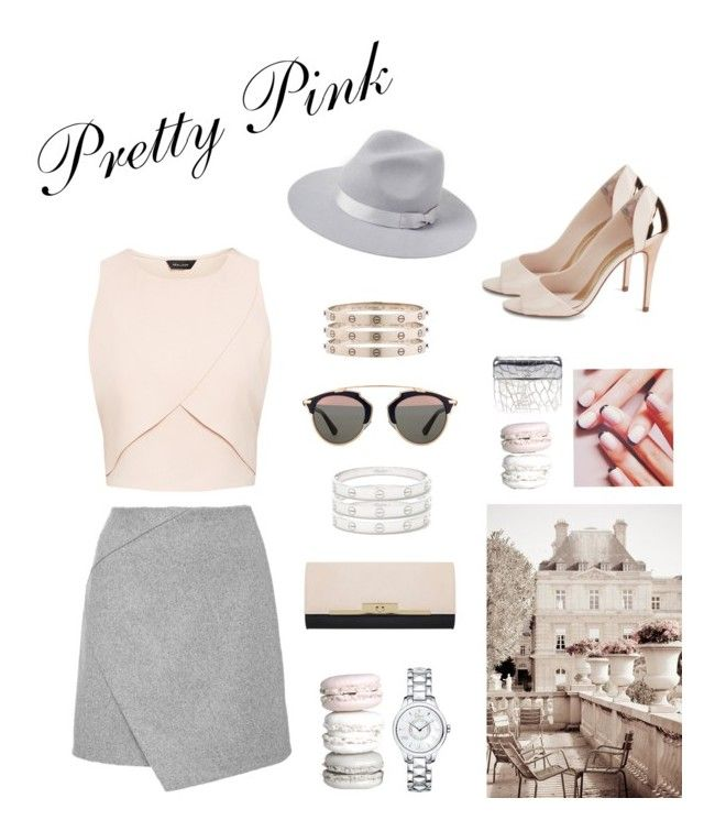 """Pretty Pink in Paris"" by calilove2057 ❤ liked on Polyvore featuring Chanel, Cartier, Lack of Color, Ted Baker, Christian Dior, Miss Selfridge and Jin Soon"