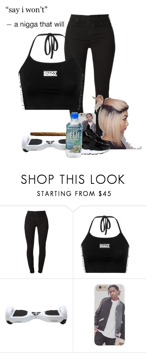 """white Iverson"" by muvaaliyah ❤ liked on Polyvore featuring NIKE, women's clothing, women's fashion, women, female, woman, misses and juniors"