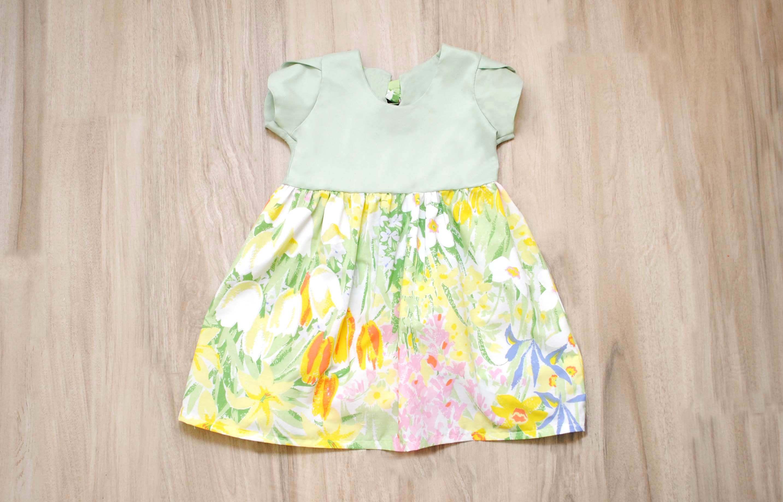 Ready To Ship Size 3t Vlasovite Girls Dress Green Dress Tulip Sleeve Dress Floral Dress Flower Dress Toddler Toddler Dress Pink Plaid Dress Kids Dresses [ 1836 x 2866 Pixel ]