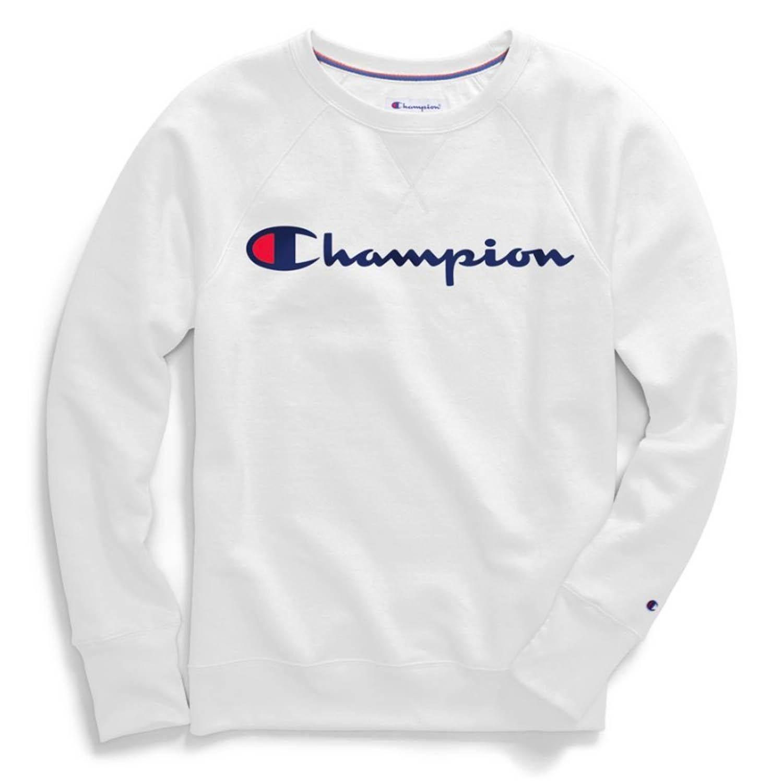 Champion Women S Powerblend Boyfriend Crew Sweatshirt Crew Sweatshirts Sleek Fashion Sweatshirts [ 1500 x 1500 Pixel ]