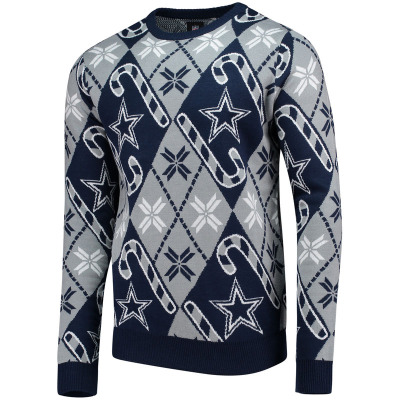 free shipping 85ac6 38f25 Dallas Cowboys Candy Cane Repeat Sweater - Gray   Products ...