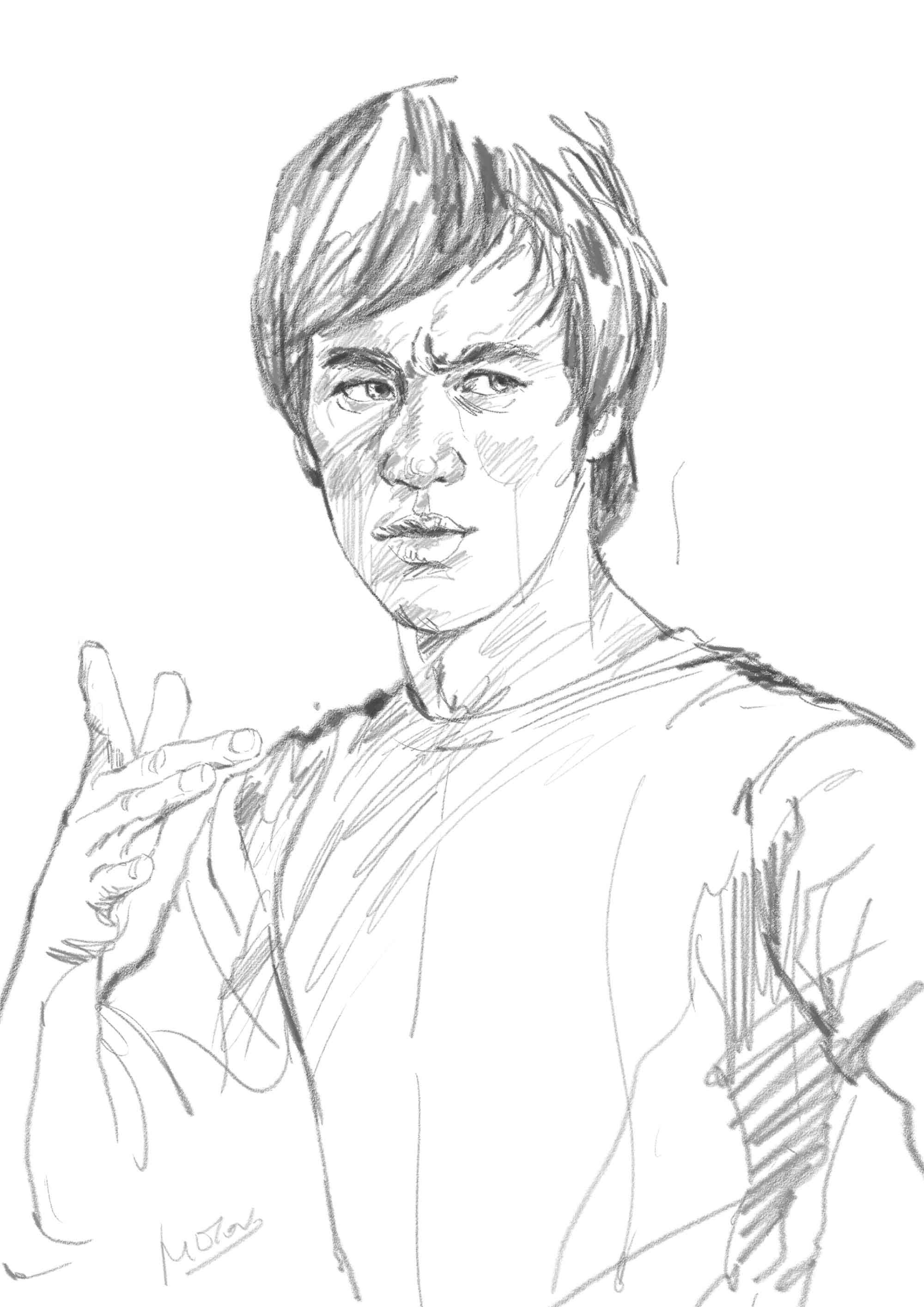 Line Sketches By Milton Wong Bruce Lee Art Bruce Lee Pictures Bruce Lee Photos