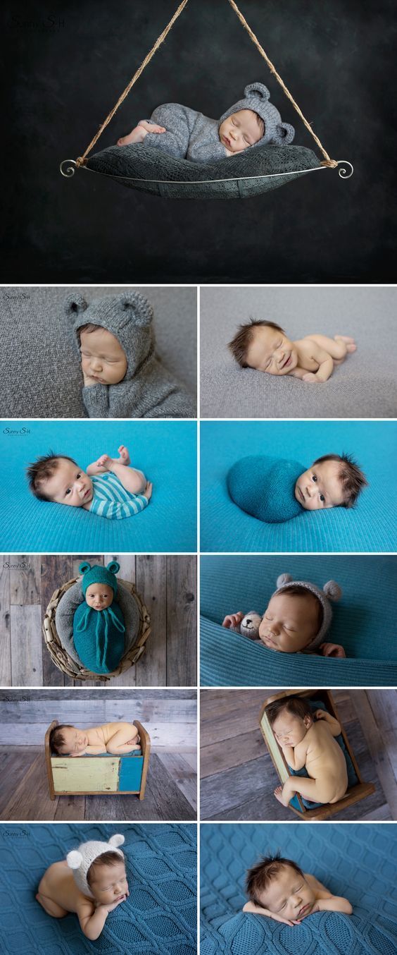 Adorable bear themed newborn photo shoot for a baby boy sunny s h photography winnipeg