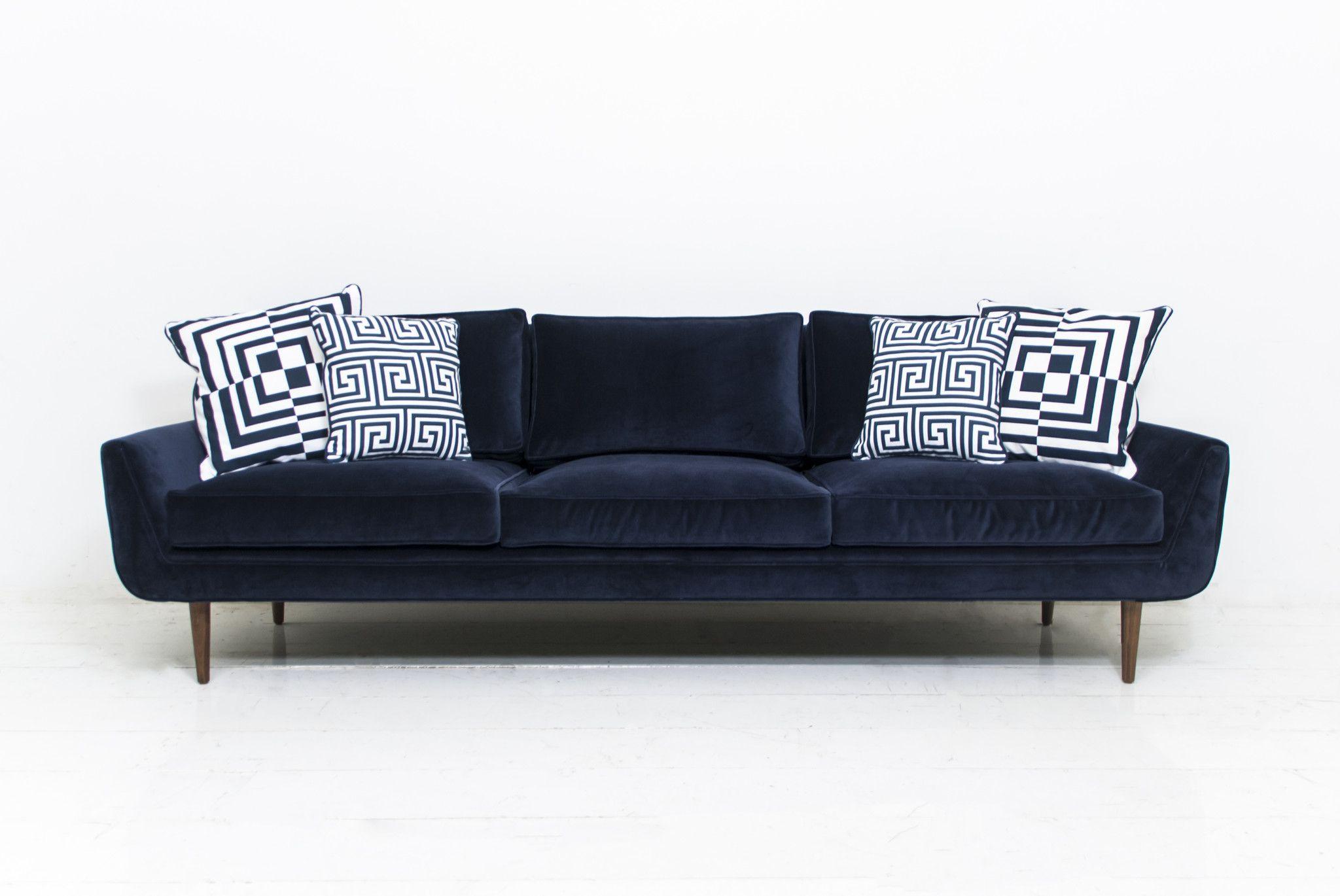 Stockholm Sofa in Navy Velvet | furniture | Modern sofa, Sofa ...