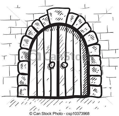 Castle Door Clip Art Stock Clip Art Icon Stock Clipart Icons Logo Line Art Castle Drawing Castle Window Drawing