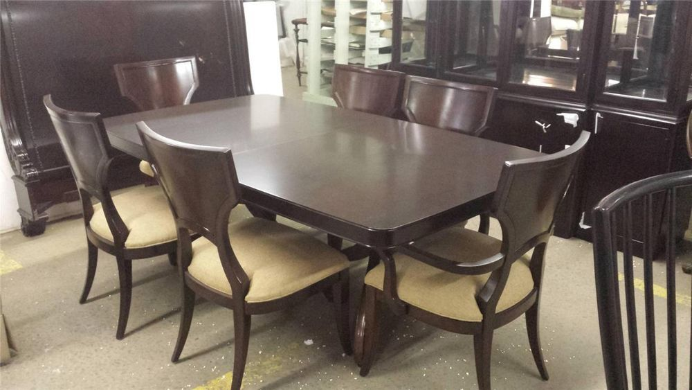 Thomasville Furniture Nocturne Spellbound Dining Table & Woodback Alluring Thomasville Dining Room Table Inspiration Design