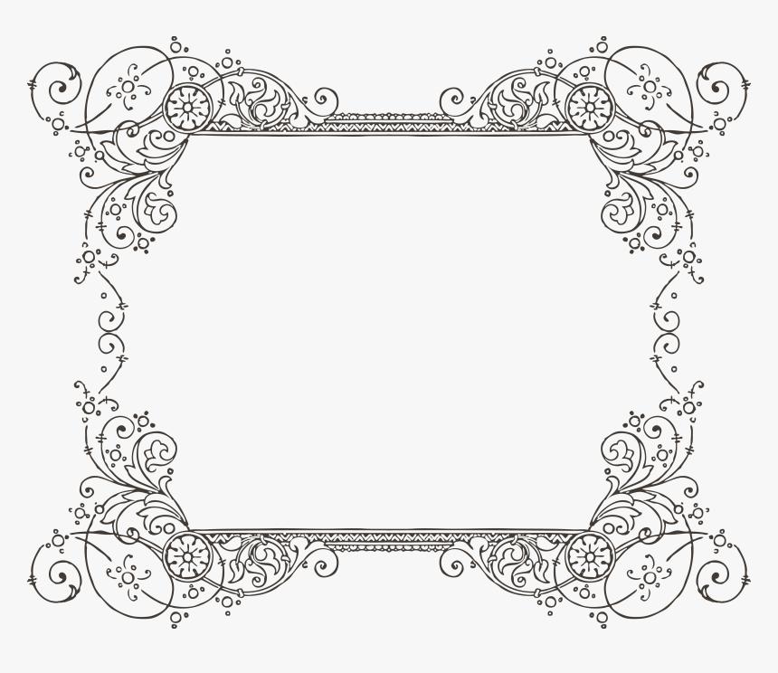 860 744 Clip Art Borders Vintage Frames Transparent Background